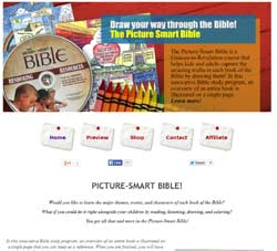 Sendy installation configuration and setup Picture Smart Bible website snapshot